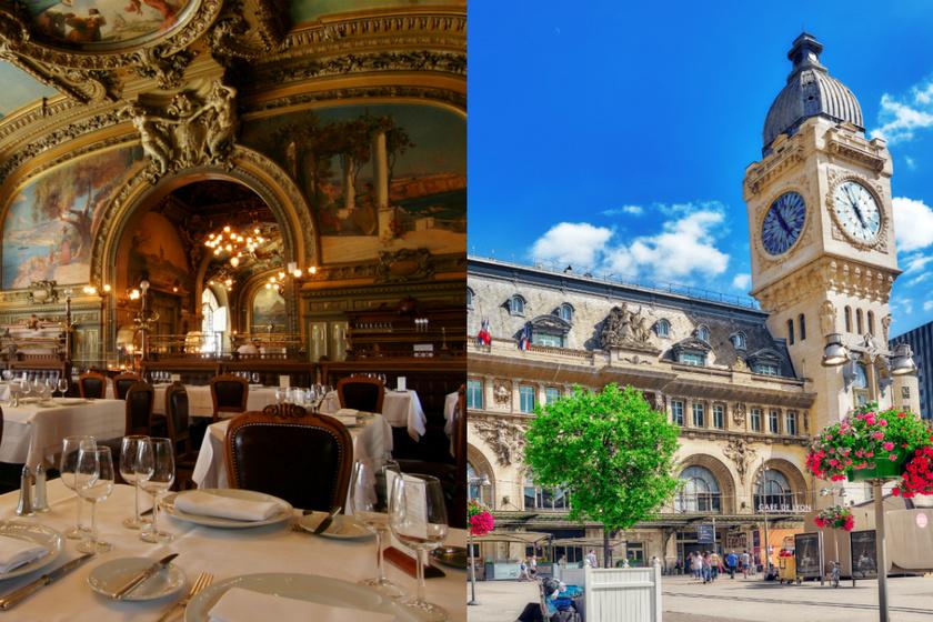 Gare de Lyon vasútállomás Franciaország harmadik legforgalmasabb pályaudvara. 1849-ben épült, leghíresebb része a Le Train Bleu étterem, sokan csak emiatt utaznak ide. Az éttermet 1900-ban a nagy világkiállításra készítették, termei Franciaország különböző részeit jelképezik.