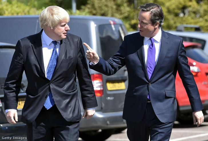 David Cameron és Boris Johnson, 2015. április 22-én.