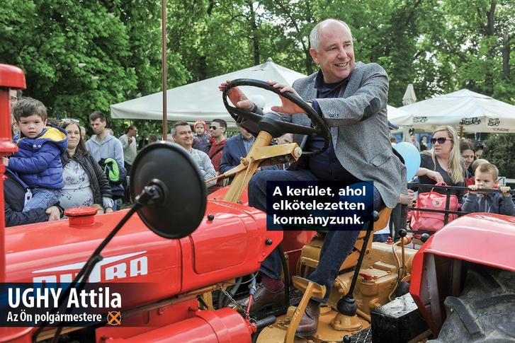 Ughy Attila polgármester kampányfotója