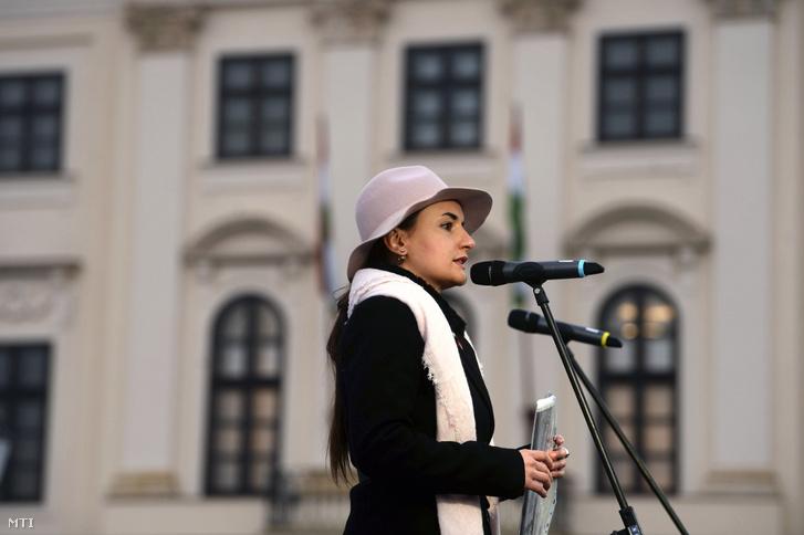 Lukácsi Katalin közéleti aktivista korábbi KDNP-tag 2019. február 10-én.