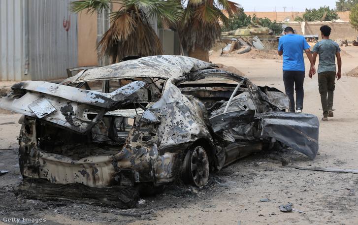 Romok Líbiában 2019. június 28-án.
