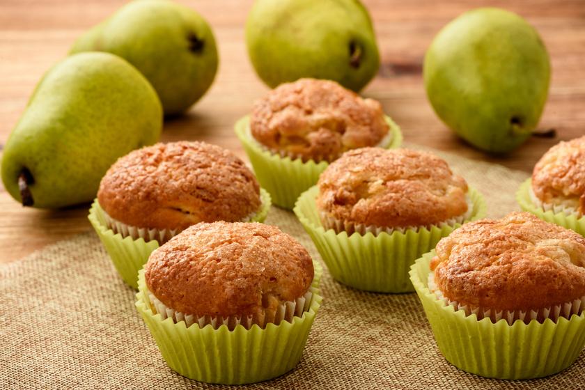 Vaníliás, körtés muffin: percek alatt összeállítod a tésztát