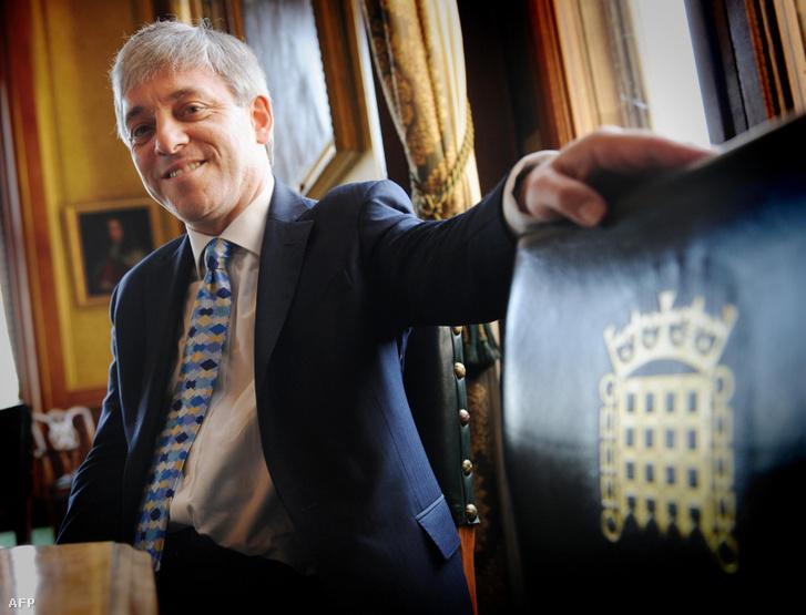 John Bercow a házelnöki irodában, Londonban 2009. június 23-án