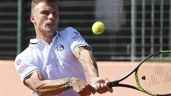 Fucsovics kikapott, az utolsó meccs dönt a magyar-ukrán Davis Kupa-csatában