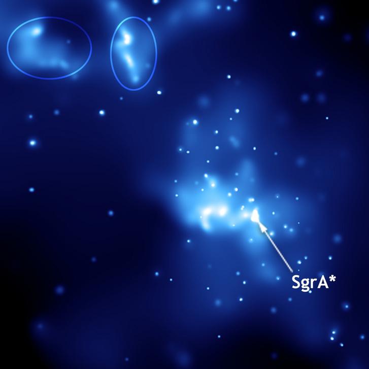 A Sagittarius-A* fekete lyuk a Chandra-röntgenobszervatórium felvételén