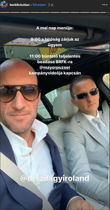 forrás: Berki Krisztián Instagram-oldala