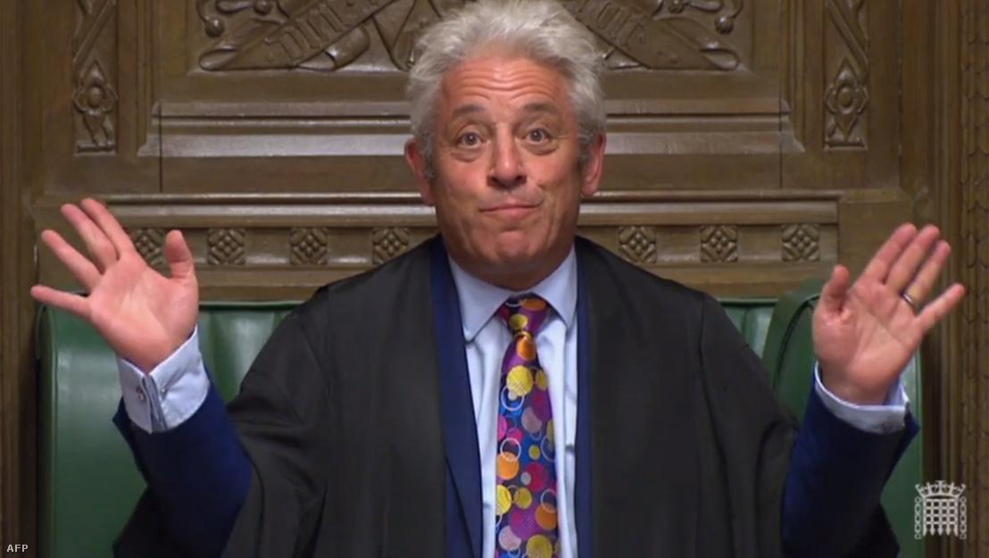 John Bercow a brit alsóházban 2019. szeptember 10-én