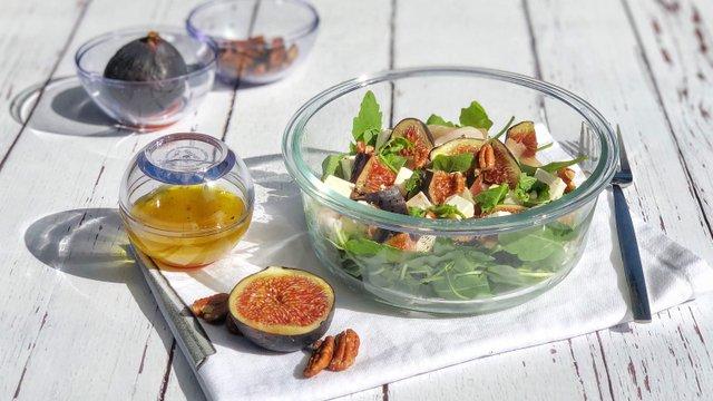Fügés-diós-fetás őszi saláta