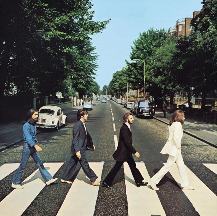 1969-es Abbey Road borítója.