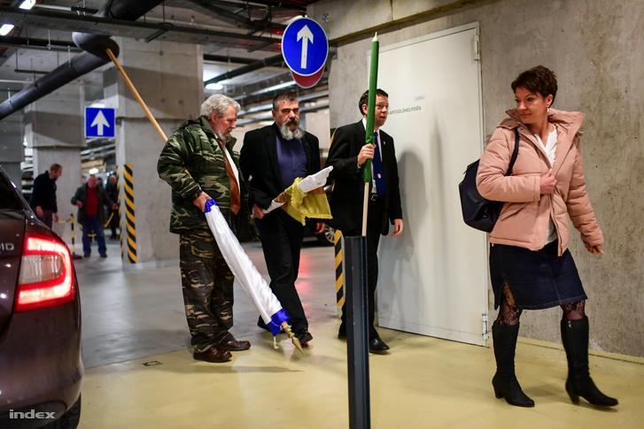 A Megyei Jogú Városok Szövetsége Soros-ellenes gyűlést tartott a budapesti Bálnában, Szita Károly, Kaposvár fideszes polgármestere javaslatára. 2018. január 12-én.