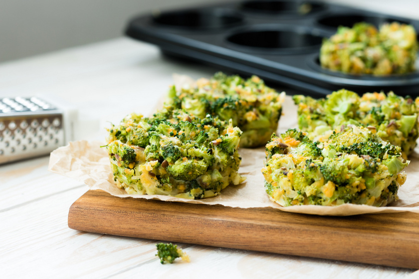 brokkoli fritatta muffin kicsi