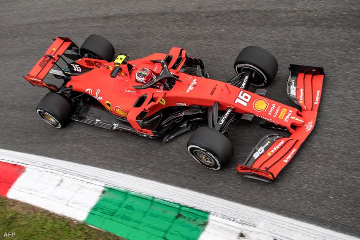 Leclerc a Ferrariban, Monzában