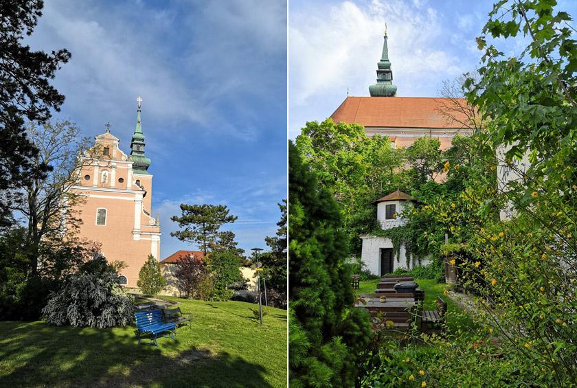 Poysdorf csendes hely, nagyon takaros, és több remek borozóba is beülhetünk a templom környékén.