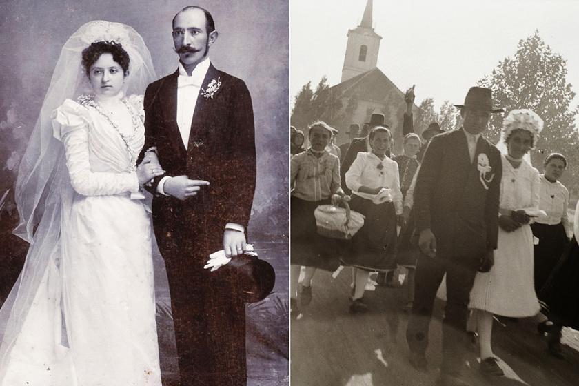 Nagyon más volt egy magyar esküvő az 1900-as években? Csodálatos képeken az akkori ceremóniák