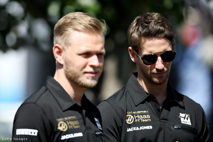 Kevin Magnussen és Romain Grosjean