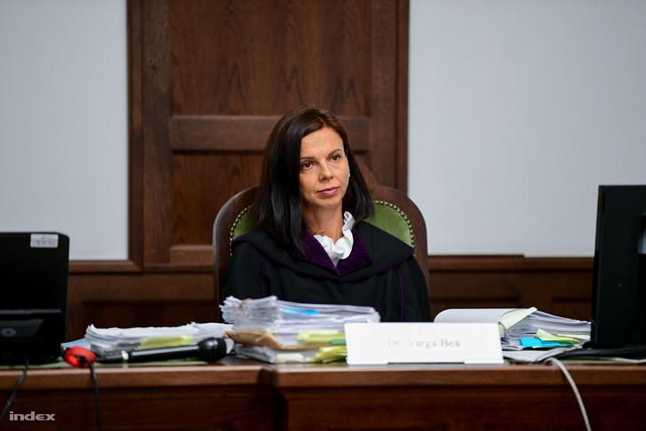 Varga Bea bíró a Dózsa György úti baleset tárgyalásán