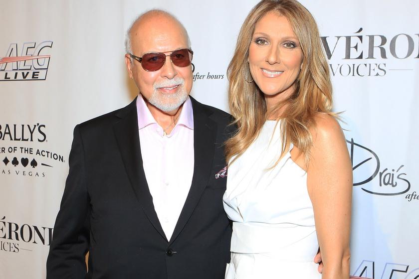 Céline Dion és elhunyt férje, René 2013-ban.