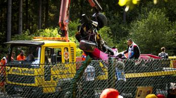 Még kómában, de túl az életveszélyen a súlyosan sérült F2-pilóta