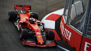 F1: Leclerc diktálta a tempót a szingapúri időmérő előtt