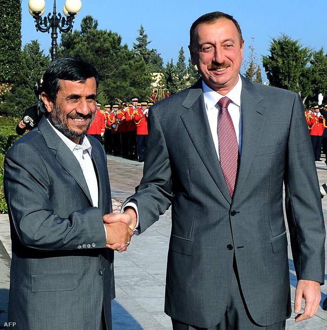 Iráni, azeri két jóbarát - Mahmud Ahmadinezsád iráni és Ilham Alijev azeri elnök