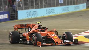 Sorban harmadik időmérőjét nyerte Leclerc, Szingapúrban is megállíthatatlan
