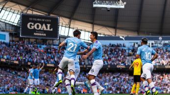 18 perc alatt 5 gólt lőtt a Manchester City