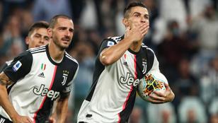 Ronaldo büntetőjével nyert a Juventus