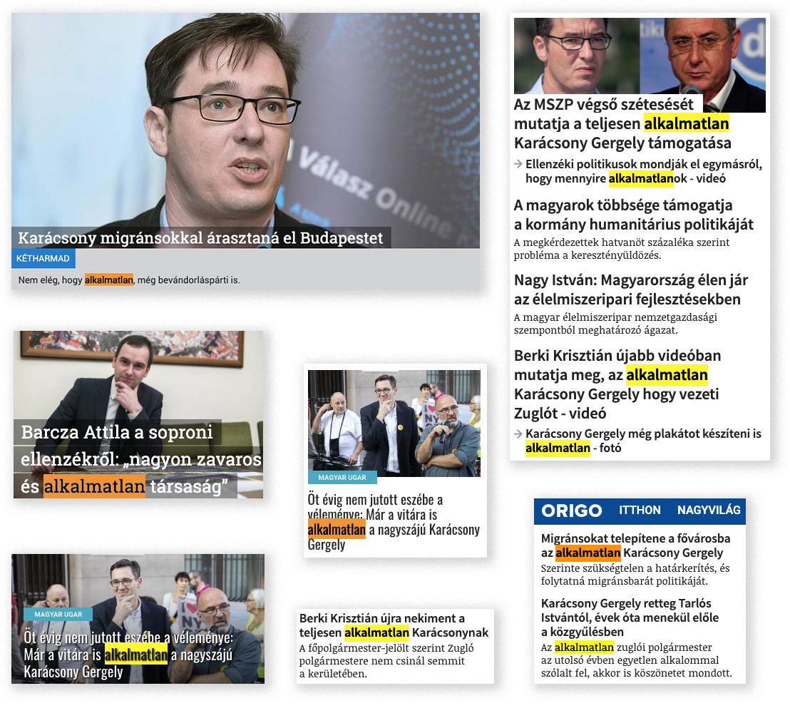 Szemelvények az online sajtó elmúlt időszakából