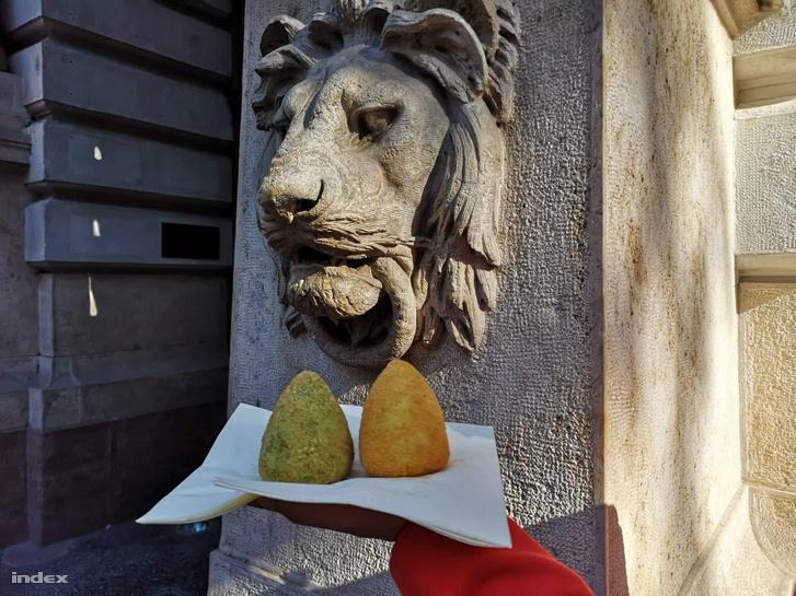 Édes és sós arancinit is lehetett kóstolni
