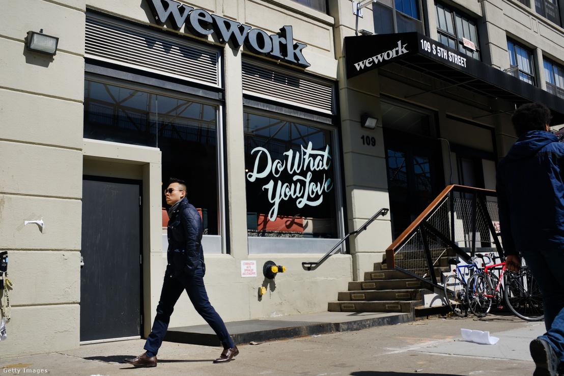 WeWork közösségi irodatér New Yorkban