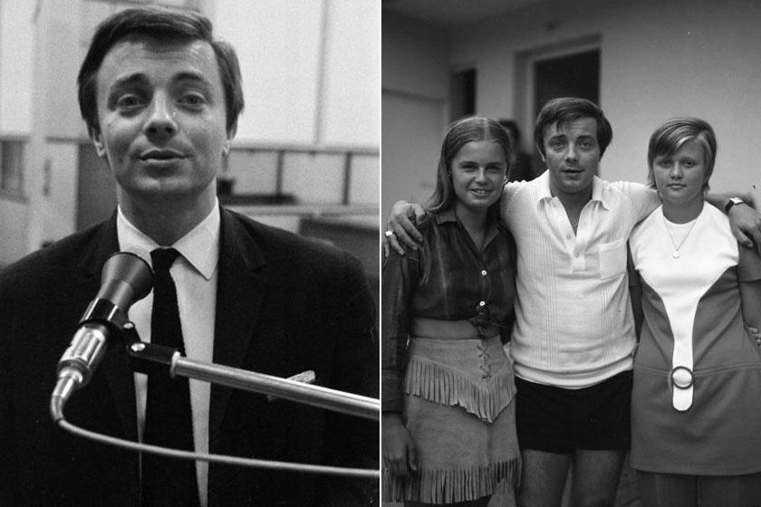 Aradszky László 1967-ben a Magyar Rádió stúdiójában és 1972-ben.