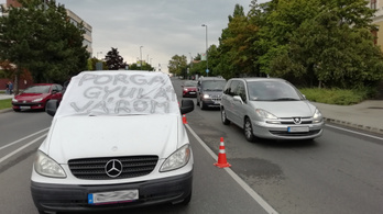 A Balatont ellepő bűz ellen tiltakoztak Veszprémben