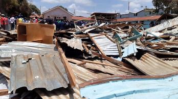 Hét gyerek meghalt, 57 megsebesült, amikor összeomlott a kenyai iskola