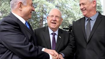 Az izraeli államfő nyomására nagykoalíciós tárgyalásba kezdett Netanjahu és legyőzője