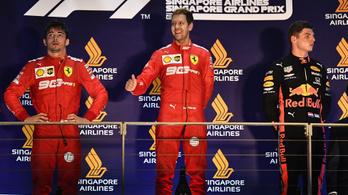 A Ferrari direkt kiszúrt a pilótájával. Vagy csak elnézte