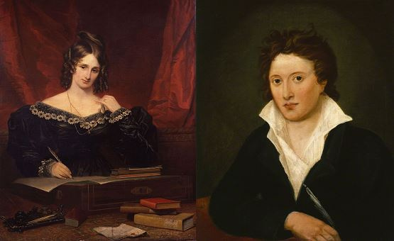 Mary Shelley és Percy Bysshe Shelley