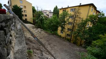 Veszélyhelyzet a budavári Logodi utcában
