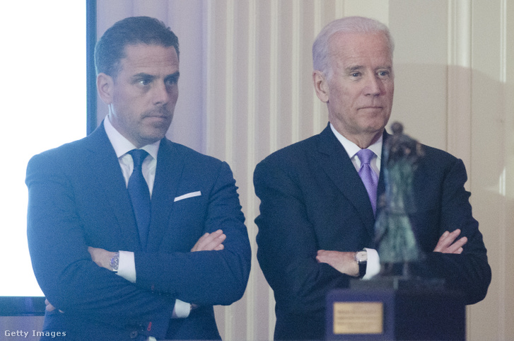 Hunter Biden (balra) és édesapja Joe Biden egy 2016-os washingtoni rendezvényen