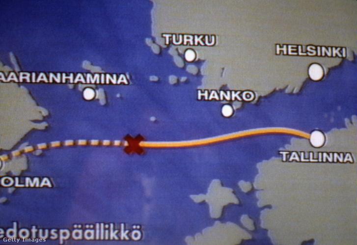 Estonia komphajó balesetéről szóló hírről készült képernyőkép 1994. szeptember 28-án