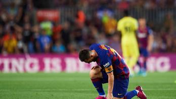 Messit most a combja állította meg