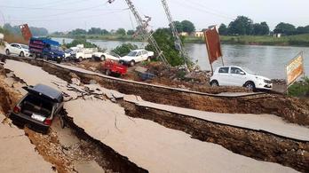 Megnyílt a föld Pakisztánban, legalább 19 ember meghalt