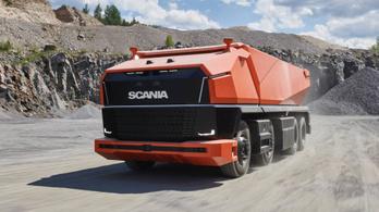 Fülkétlen bányadömpert készített a Scania