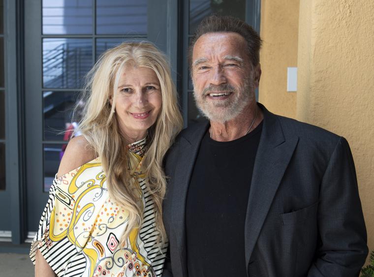 Návai Anikó és Arnold Schwarzenegger