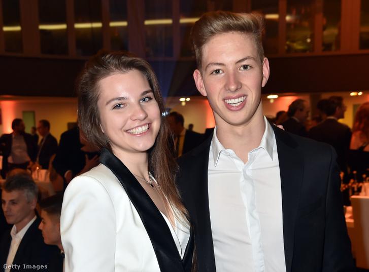 David Schumacher és barátnője, Keszthelyi Vivien magyar autóversenyző