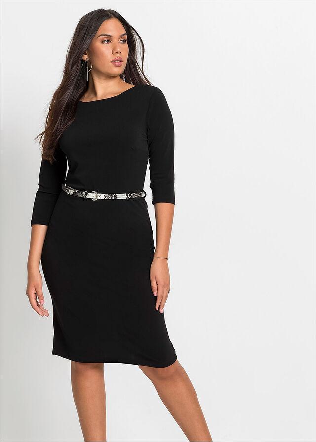 Ez az egyszerű, mégis nagyon csinos fekete egészruha szépen követi az alak vonalát, alul pedig kissé bővül, hogy még karcsúbbnak mutassa viselőjét. Nem beszélve a darázsderekat varázsoló övről. A Bonprix-ben 5499 forint.