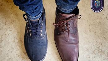 Két jobbos cipőt lopott a kétballábas cipőtolvaj, még a méret sem stimmelt