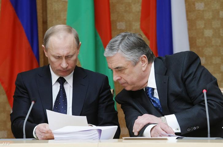Vlagyimir Putyin és Pavel Borogyin