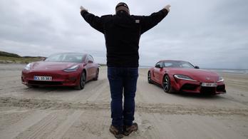 Verseny: Tesla Model 3 - Toyota Supra