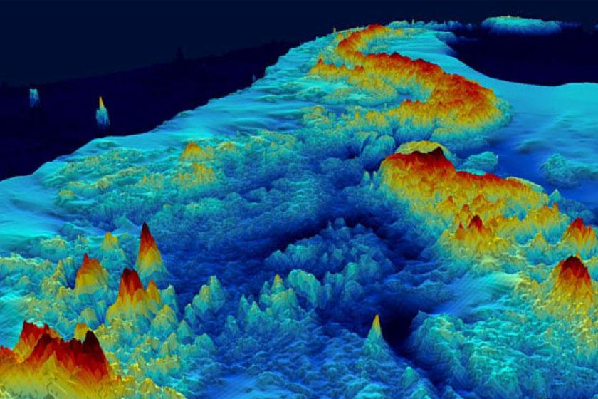 A hó nélküli Antarktisz felszíni formái egy másik nézőpontból.