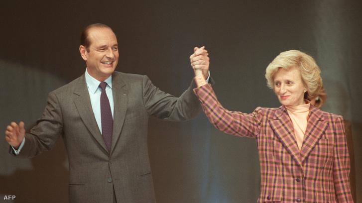 Jacques Chirac és felesége Bernadette egy 1988-as párizsi kampányrendezvényen